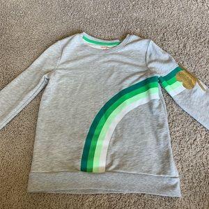 Girls Cat and Jack Shamrock Sweatshirt